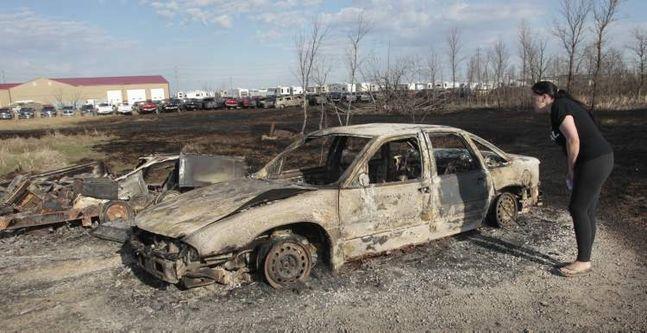 Headingley grass fire destroys dealership's cars - Baldwinson Insurance Brokers - Winnipeg, Manitoba