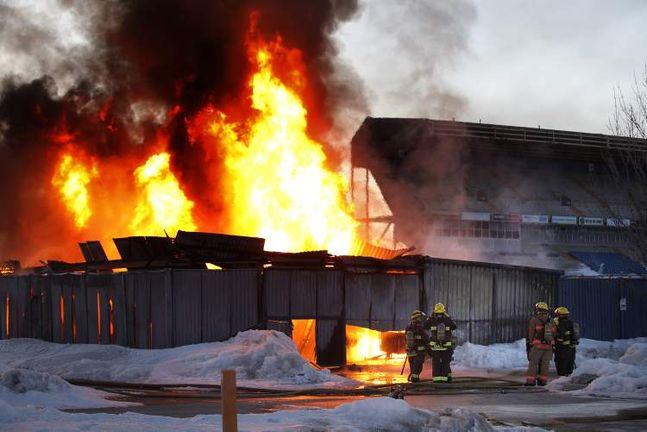 Stadium Fire - Baldwinson Insurance Brokers - Winnipeg, Manitoba